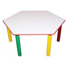 Šešiakampis stalas, 52 cm