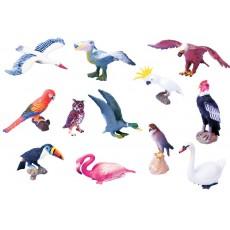 Paukščių figūrėlių rinkinys