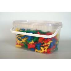 Mažosios gyvūnų figūrėlės, 192 vnt., plastiko kibirėlyje