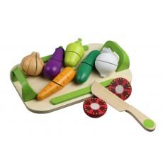 Pjaustomos daržovės padėkle