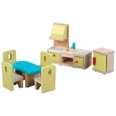 Valgomojo baldelių komplektas lėlėms