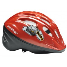 Raudonas dviratininko šalmas