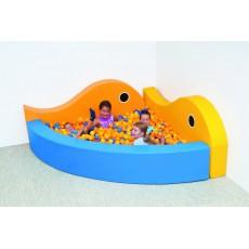 """Kampinis porolono baseinas """"Žuvytės"""""""