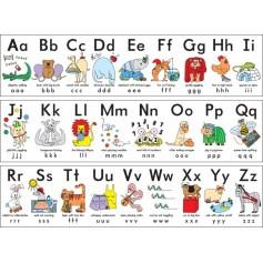 "Plakatinės juostos ""Silly alphabet frieze"""