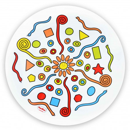 "Spalvingas plastiko paklotas ""Mandala"", 50 cm"