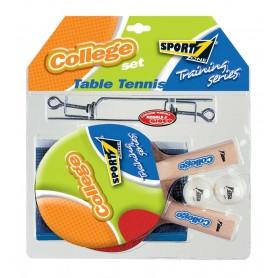 Stalo teniso rinkinys (2 raketės, 2 kamuoliukai, tinklas, tinklo laikikliai)