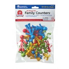 Mažosios stilizuotos šeimos narių figūrėlės, 24 vnt.
