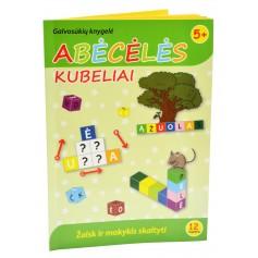 """Žaidimas """"Abėcėlės kubeliai"""" su knygele (lietuvių k.)"""
