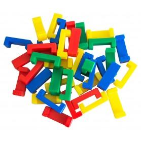 """Formų konstruktorius """"P formos blokeliai"""", 100 vnt. maišelyje"""