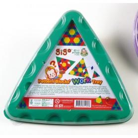 Trikampis padėklas figūrėlėms dėlioti (akcija)