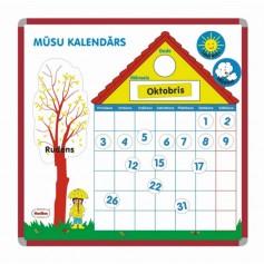 Magnetinis kalendorius latvių kalba