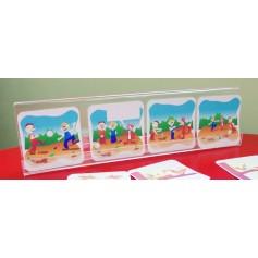 Plastiko stovelis kortelėms