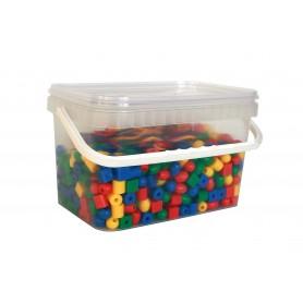 Mažieji karoliukai, 650 vnt., plastiko kibirėlyje