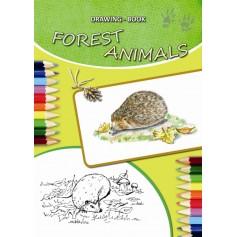 """Piešimo sąsiuvinis """"Miško gyvūnai"""""""