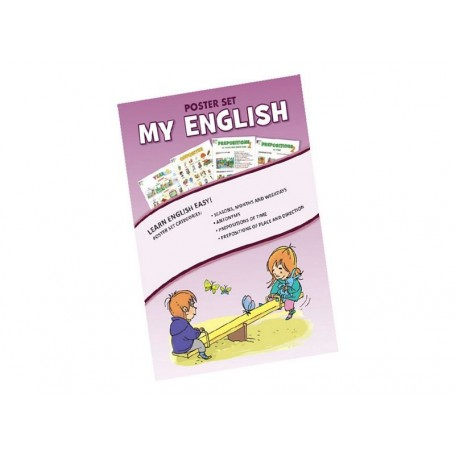 """Plakatų rinkinys anglų k. """"My English"""""""