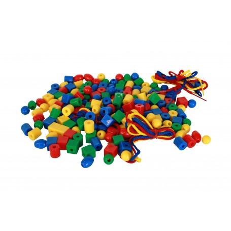 Plastiko karoliukai verti, 200 vnt.
