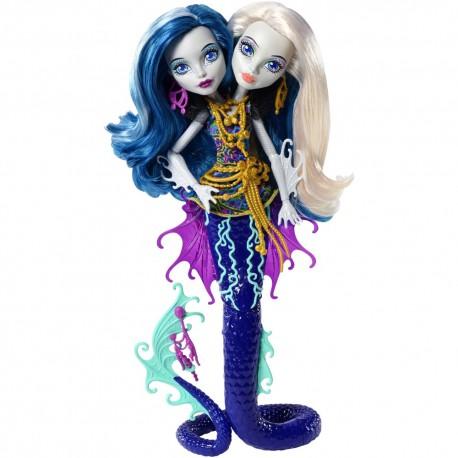Monster High dvynukės Peri ir Pearl Vandens gelmių paslaptys
