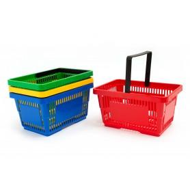 Plastikinis pirkinių krepšelis 23 x 16 x 12 cm.