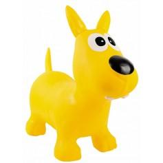 Geltonas šokinėjimo šuniukas