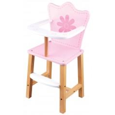 Maitinimo kėdutė lėlei 26 x 27.5 x H 55.5 cm