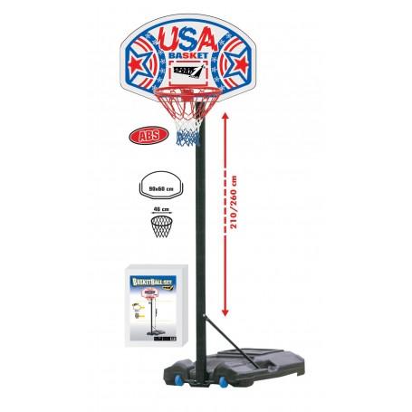 """Krepšinio stovas """"USA Basket"""", H 210-260 cm"""