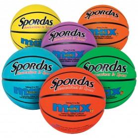 Spalvotų krepšinio kamuolių nr. 5 rinkinys, 6 vnt.