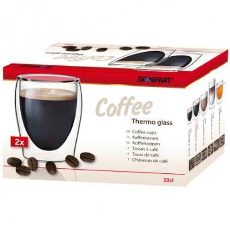 Scanpart CAFFEE dvigubo stiklo stiklinės 2 x 175 ml