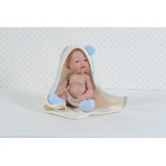 Kūdikėlis su pagalve. Berniukas, 26 cm.
