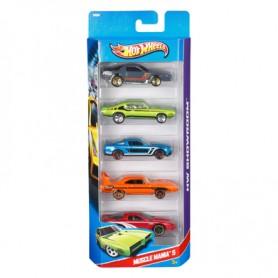 Penkių Hot Wheels automodelių rinkinys