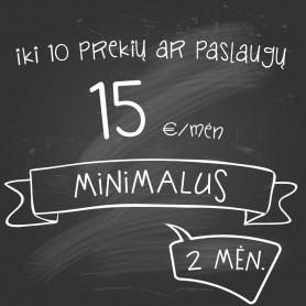 Planas Minimalus TRUMPAS (2 mėn)