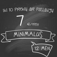 Planas Minimalus METINIS (12 MĖN)