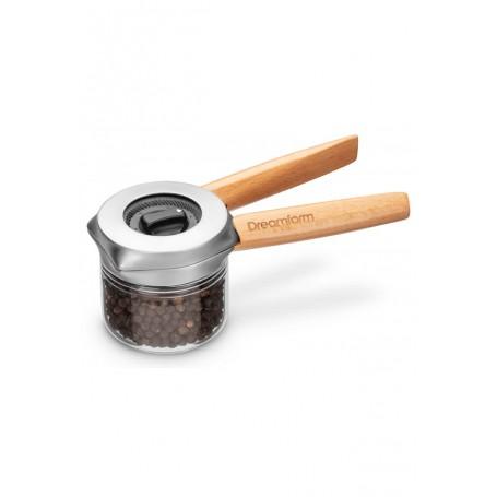 Malūnėlis druskai, pipirams, prieskoniams plienas/medis