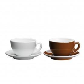Puodelis kavai su lėkštute, porcelianas