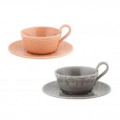 """Puodelis su lėkštute arbatai 200ml """"RUA NOVA"""""""
