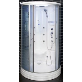 Dušo kabina garinė 103x103x217 cm LED 6116